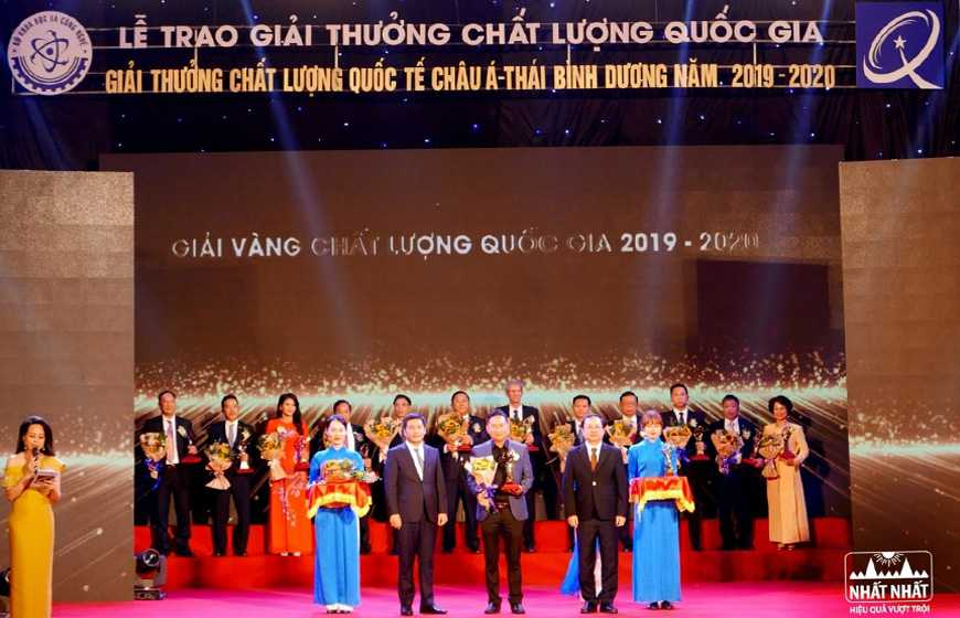 Dược Phẩm Nhất Nhất vinh dự nhận Giải Vàng Chất lượng Quốc gia Việt Nam năm 2020
