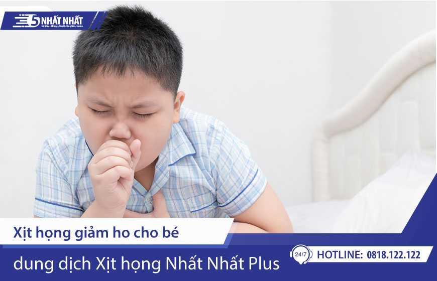 Xịt họng giảm ho cho bé - Nhất Nhất Plus